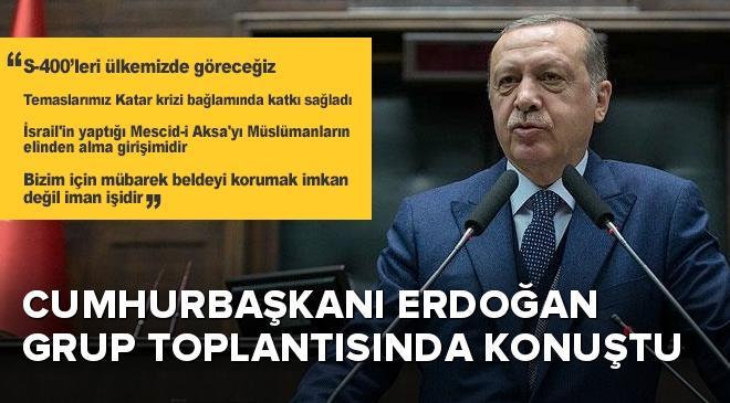 Cumhurbaşkanı Erdoğan: S-400leri ülkemizde göreceğiz