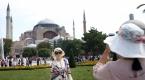 Sultanahmet Camisi ve Ayasofyaya turist ilgisi