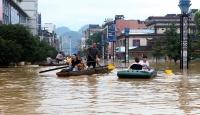 Çin'de şiddetli yağış: 6 ölü