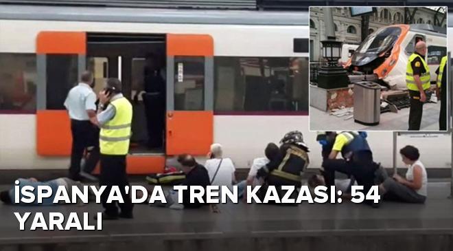 İspanyada tren kazası: 54 yaralı
