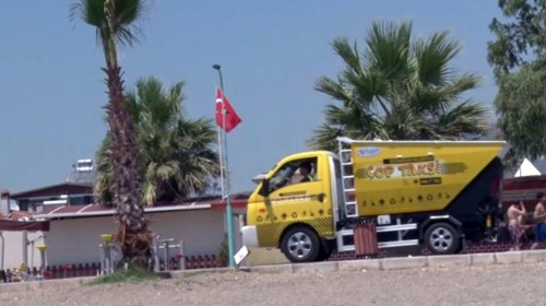 İzmirde Çöp Taksi