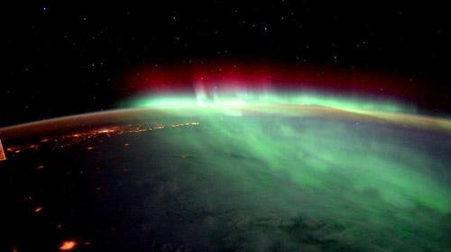NASAdan muhteşem kuzey ışıkları gösterisi