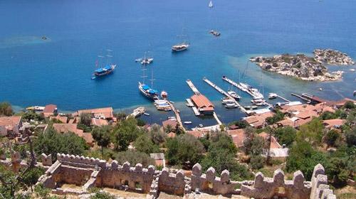 Antalyanın gizemli güzelliği Kaleköy