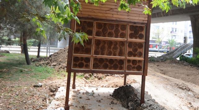 Yaban arıları kışı arı otelinde geçirecek