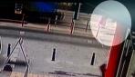 Tramvay kadına böyle çarptı!