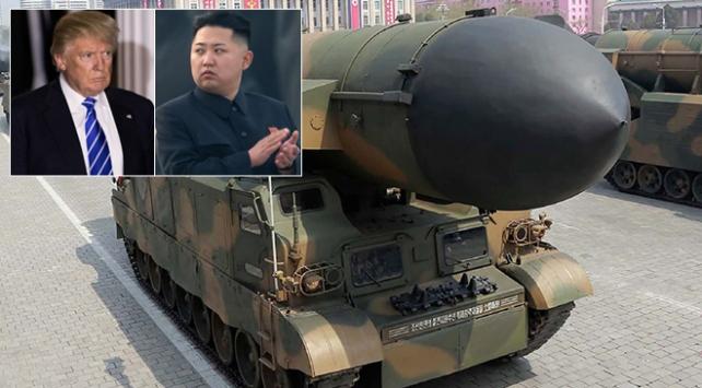 Trumptan Kuzey Koreye: Silahlarımız yüklü ve hedeflerine kilitli
