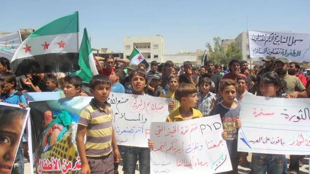 Babta terör örgütü PKK/PYD karşıtı gösteri