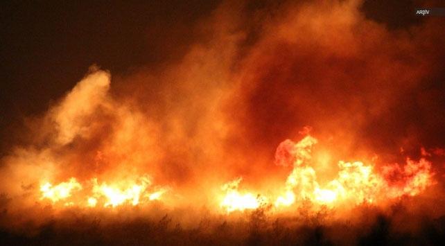 Fransadaki orman yangını söndürme çalışmaları sürüyor