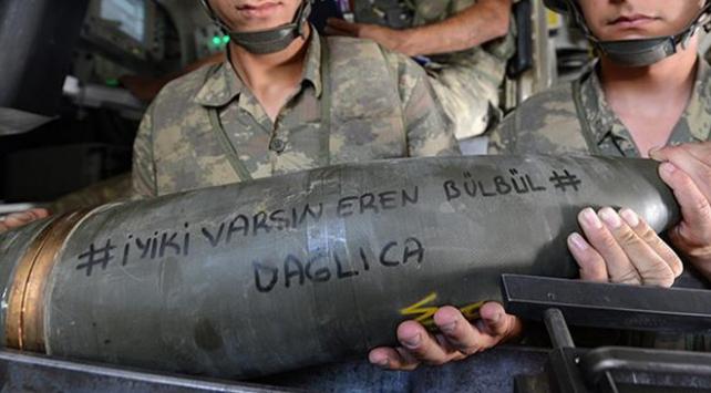 PKKlı hainler Eren Bülbül yazılı mermilerle vuruldu