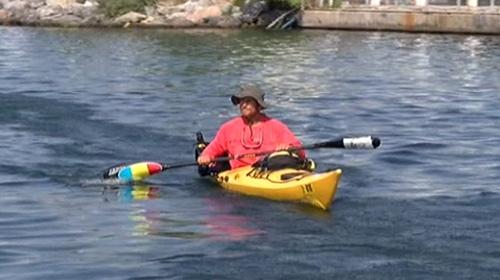 Çılgın profesör kanoyla Karadeniz turunda akıntı nedeniyle zorlandı