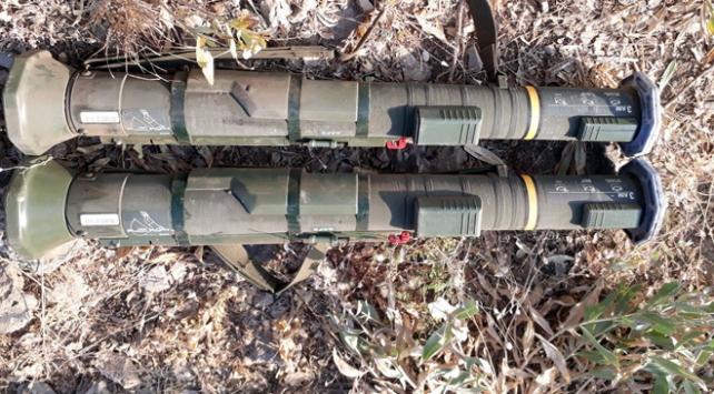 Teröristlerin gizledikleri tanksavar füzeleri ele geçirildi