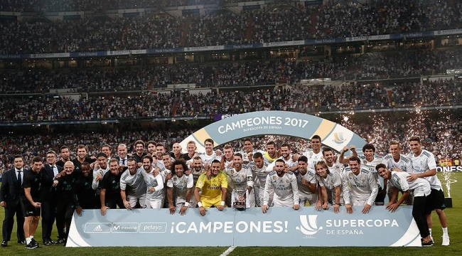 İspanyada sezonun ilk kupası Real Madridin