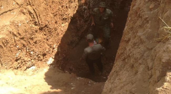 Nusaybinde teröristlerce kazılan tünel bulundu
