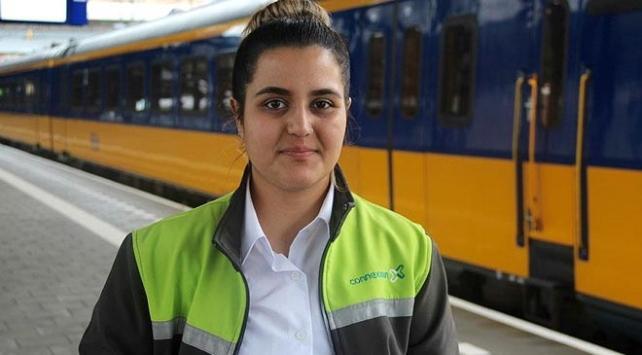 Hollandanın en genç bayan tren makinisti Türk kızı