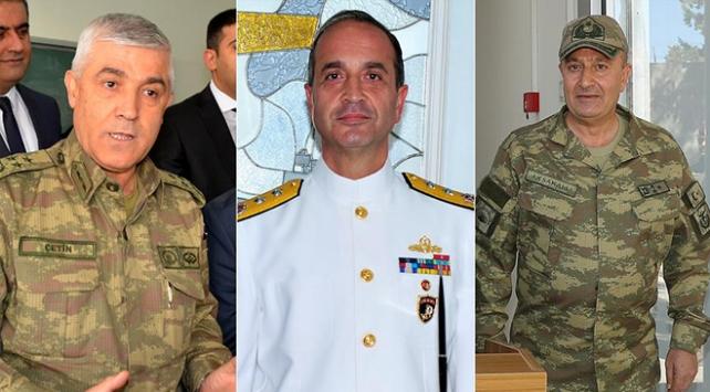 Jandarma, Donanma ve 2. Kolordu Komutanlığına atamalar yapıldı