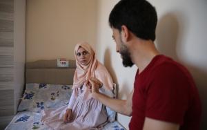 Suriyeli öğretmenin protez bacak hayali