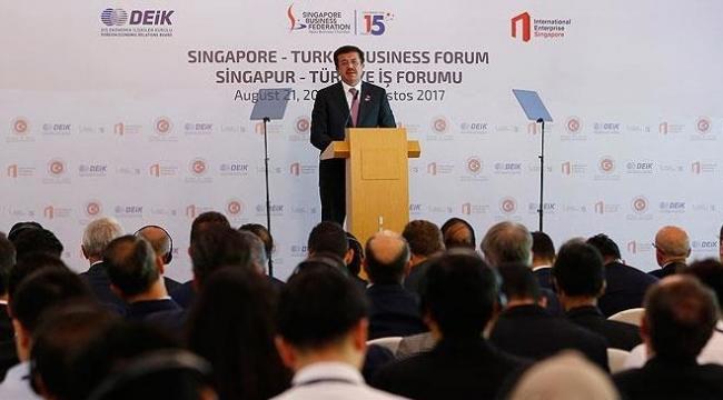 Singapur ile 2 milyar dolarlık dış ticaret hedefi