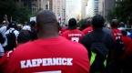 New Yorkta Colin Kaepernicke destek gösterisi