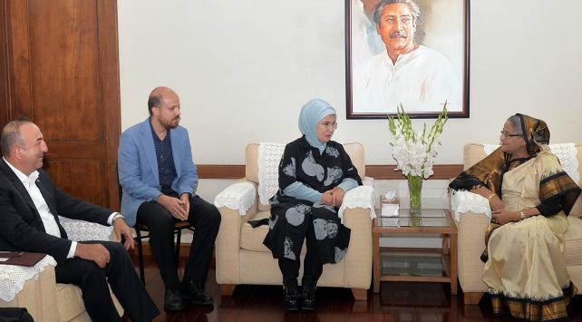 Emine Erdoğan, Bangladeş Başbakanı Hasina ile görüştü