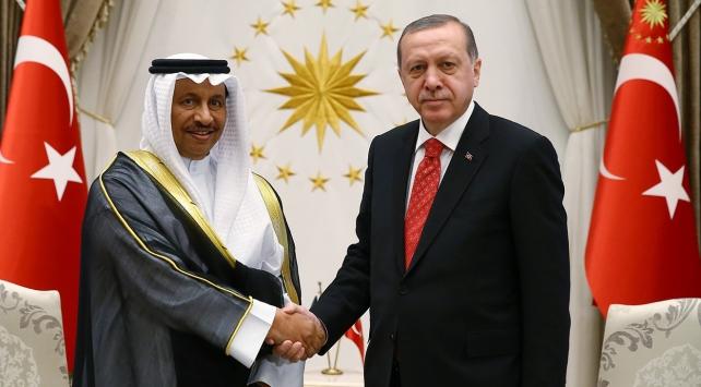 Cumhurbaşkanı Erdoğan, Kuveyt Başbakanı Sabahı kabul etti