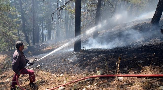 Karsta 3 gün önce başlayan yangının soğutma çalışmaları sürüyor