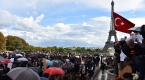 Pariste Arakanlı Müslümanlara destek gösterisi