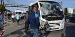 Balıkesirde iki yolcu minibüsü çarpıştı: 41 yaralı
