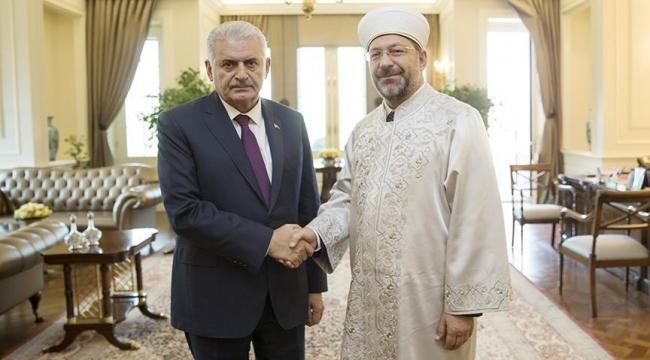 Başbakan Yıldırım, Diyanet İşleri Başkanı Erbaşı kabul etti