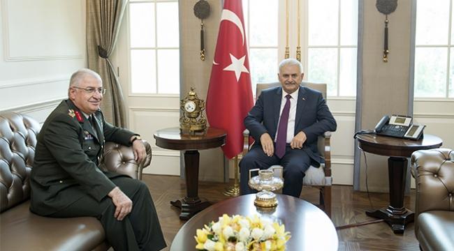 Başbakan Yıldırım, Hava Kuvvetleri Komutanı Küçükakyüzü kabul etti