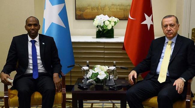 Cumhurbaşkanı Erdoğan, Somali Başbakanı Hayriyi kabul etti