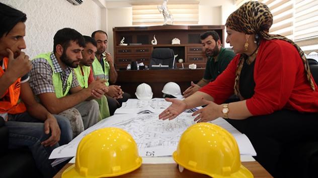 Diyarbakırda inşaat sektörünün Hanımağası
