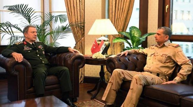 Orgeneral Akar, Iraklı mevkidaşı ile görüştü