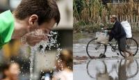 Asya Yağmurla ABD Sıcakla Boğuşuyor
