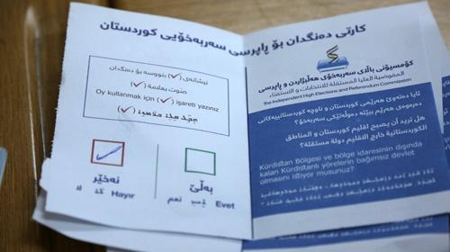 Iraktaki gayrimeşru referanduma tepkiler sürüyor