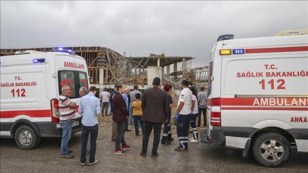 Ankarada inşaatta göçük: 1 ölü, 1 yaralı