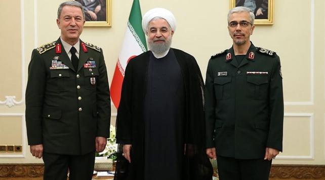 Orgeneral Akar ile İran Cumhurbaşkanı Ruhani görüştü