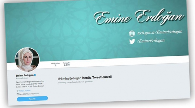 Emine Erdoğan Twitterda
