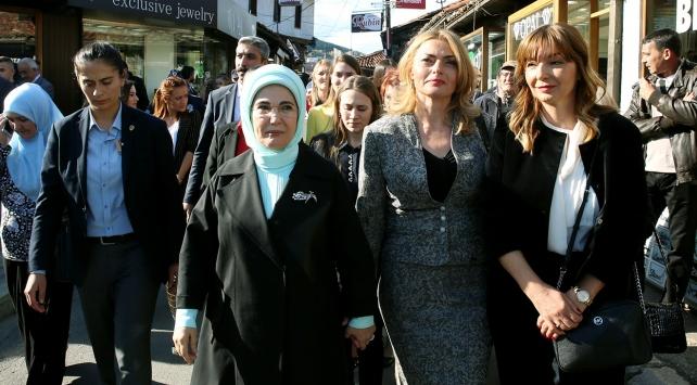 Emine Erdoğan, Sancakta Novi Pazarı gezdi
