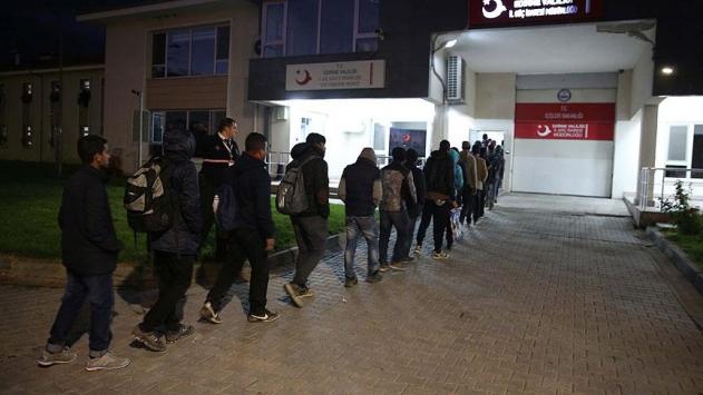 Edirnede 109 kaçak ve sığınmacı yakalandı