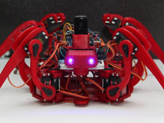 Engelleri kolayca aşan Örümcek Robot