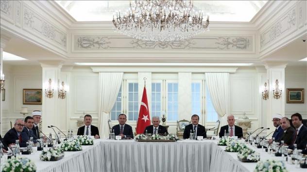 Başbakan Yıldırım Batı Trakya Türk Azınlığı Danışma Kurulu heyetini kabul etti