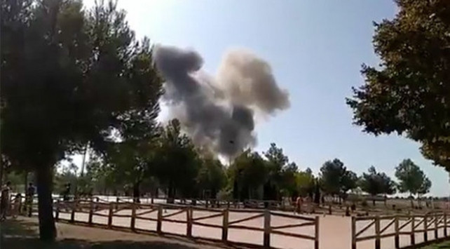 İspanyada askeri uçak düştü