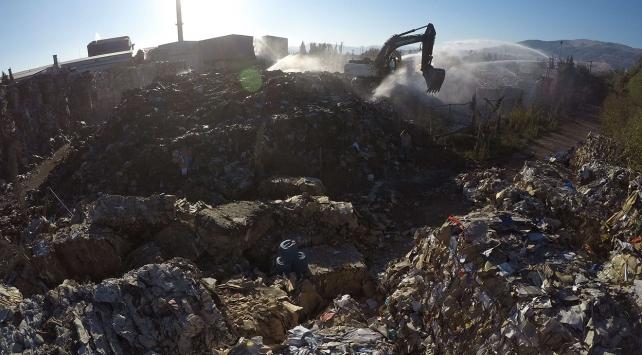 Kahramanmaraştaki fabrika yangını söndürüldü