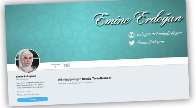 Cumhurbaşkanı Erdoğan eşi Emine Erdoğanı Twitterda takibe aldı