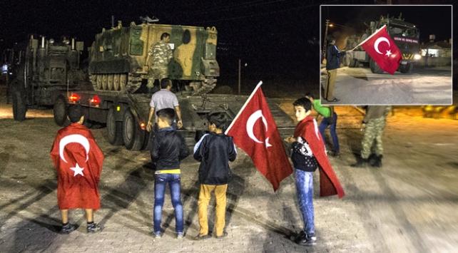 Çok sayıda askeri araç sınır hattına konuşlandırıldı