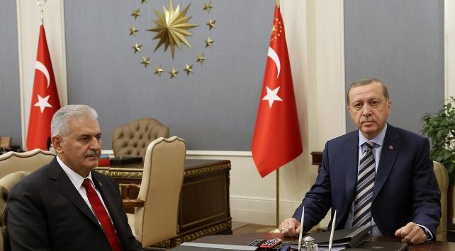 Cumhurbaşkanı Erdoğan, Başbakan Yıldırımı kabul etti