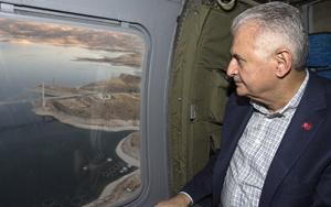 Başbakan Yıldırım, Karamağara Köprüsünü inceledi