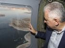 Başbakan Yıldırım, Ağın Köprüsü'nü havadan ve karadan inceledi