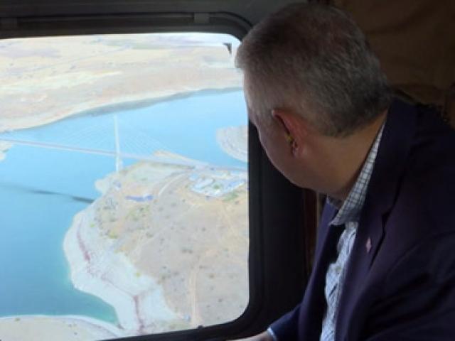 Başbakan Yıldırım Karamağara Köprüsünde incelemelerde bulundu