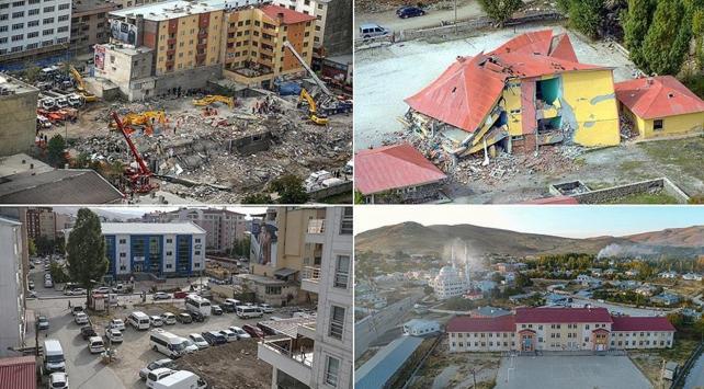 Van depremin izlerinden kurtuldu